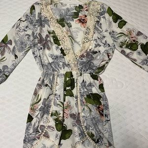 Japanese floral romper